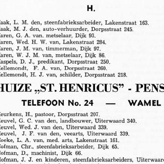 Tegenwoordig kennen we de telefoonboeken en,  de gouden gids en de jaarlijkse gemeentegids. Vroeger gaf De Gelderlander adresboeken uit. In het boek voor Maas & Waal en westelijk Rijk van Nijmegen, uitgave 1938 drukte men in het boek een facsimile af van Wamel.